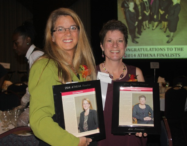 strategic HR inc. president, Robin Throckmorton, and Lisa Kaminski at Athena Awards 2014
