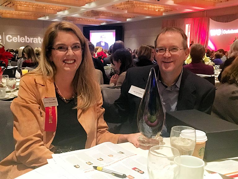 strategic HR inc. president, Robin Throckmorton, is pictured with her husband, John, at the Woman Owned Business of the Year Awards Ceremony.