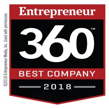 Entrepreneur 360 Best Company Award Logo