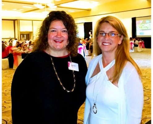 Photo of strategic HR inc.'s president, Robin Throckmorton, and her executive assistant, Michelle Cordy, at the Women's Business Awards Ceremony