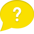 Question of the Week Icon - yellow speech bubble with white question mark