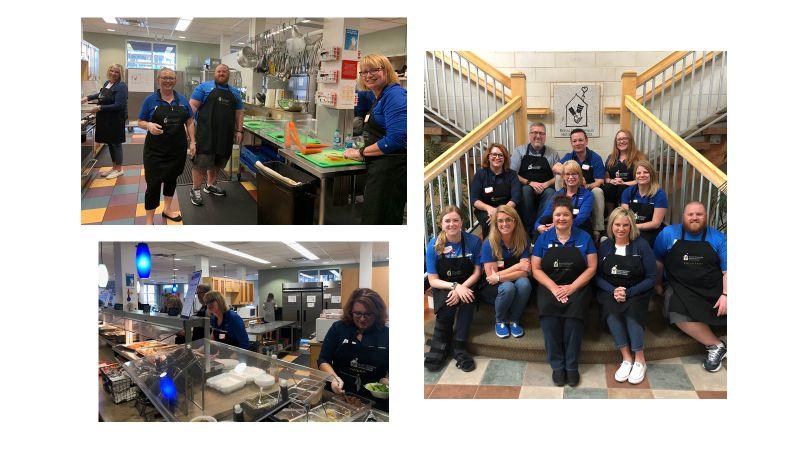 Photo collage of strategic HR inc. team volunteering at Ronald McDonald House