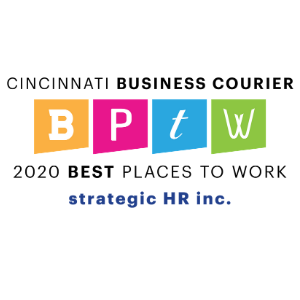 Best Places to Work 2020 Logo honoring strategic HR inc.