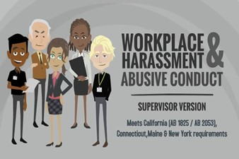 IMAGE for Workplace Harassment & Abusive Conduct Prevention - Supervisor Version (e-learning Training) 2020