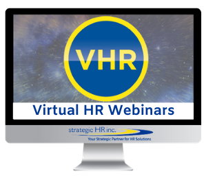 Image of Virtual HR Webinars computer monitor