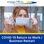Image of employee putting on a mask for Return to Work / Business Restart Toolkit