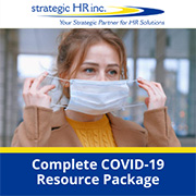 COVID-19 Complete Resource Package Image- employee putting on mask