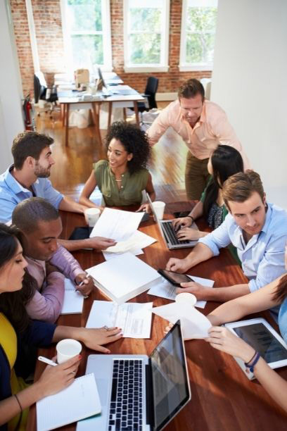 Photo of Team Collaborating representing Good Employee Relations